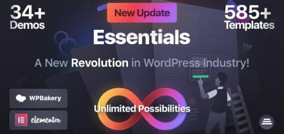 Купить перевод - Essentials | Multipurpose WordPress Theme