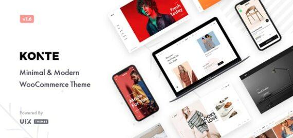 Купить перевод - Konte — Minimal & Modern WooCommerce WordPress Theme