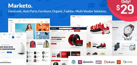 Купить перевод - Marketo — eCommerce & Multivendor Marketplace Woocommerce WordPress Theme